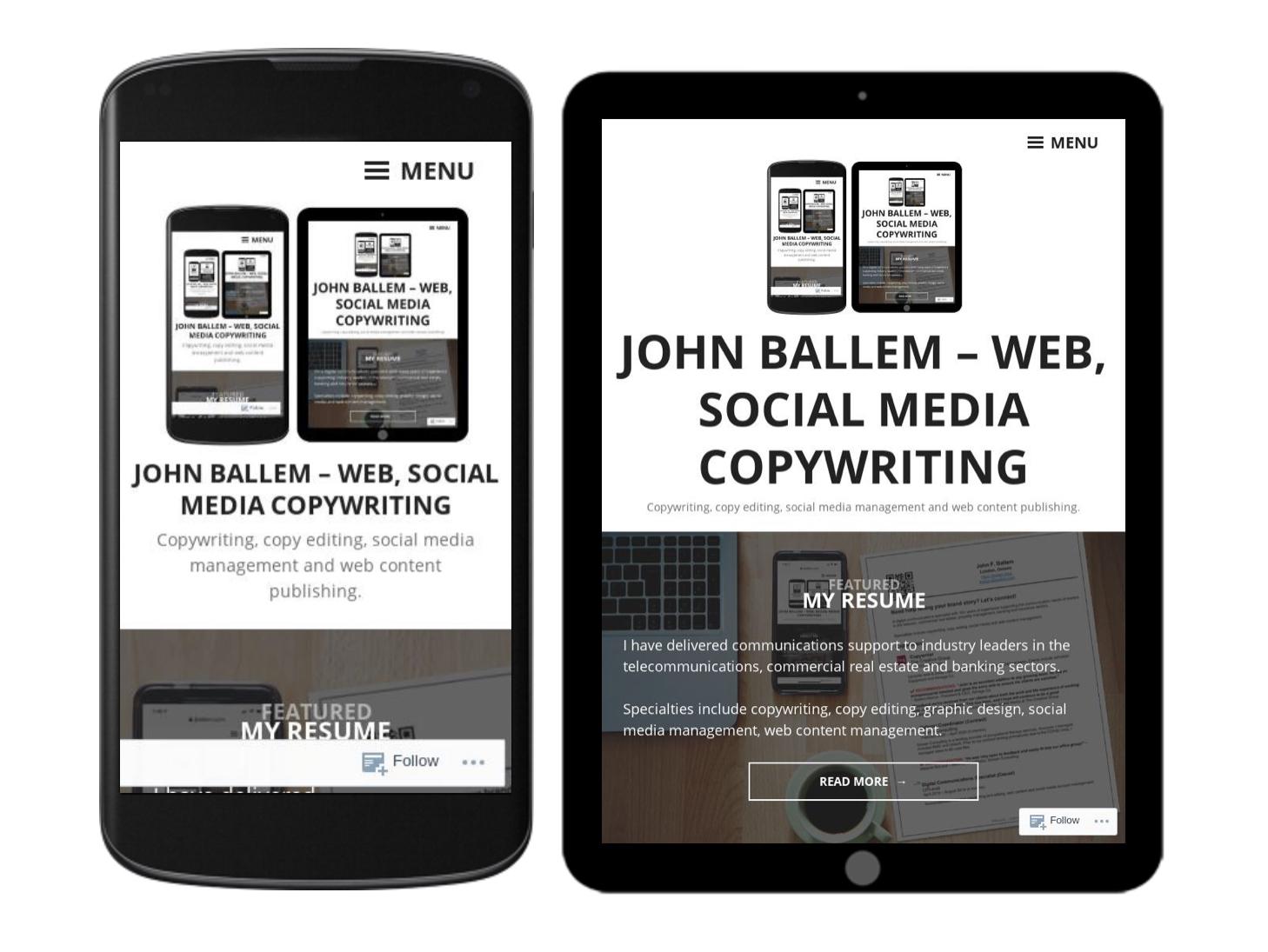 John Ballem – Web, Social Media Copywriting
